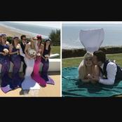 Mermaid Wedding: See Photos Of A Mermaid Bride With Her Groom And Bridesmaids
