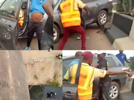 Hours After Making A Policeman To Fall Into A Canal, See What Has Been Done To The Driver