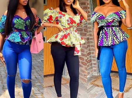 Trendy Ankara Top Styles to Wear with Trousers
