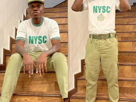 Zlatan Poses In NYSC Uniform
