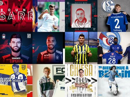 Done Deals: Deadline Done Deals As At 7:30pm, Check Out Whom Your Team Have Signed