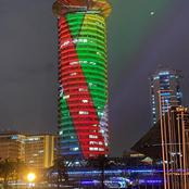 KICC Spectacularly Lit as Kenyans Join Safaricom for 20 Year Anniversary