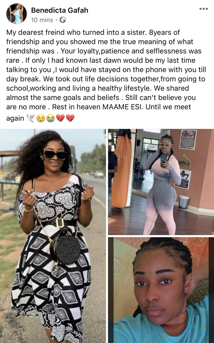 e3b1881d15b2b0079bf23fd908e41306?quality=uhq&resize=720 - Sad: Benedicta Gafah shed tears As She mourns her sister who was reported dead In A Fatal Accident (Photos)