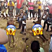 A Man Was Caught Stealing Chicken In Benue State & Jungle Justice Was Meted Out On Him