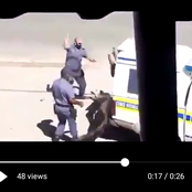 Cop Exposed As He Whips Civilian With Sjambok For Not Wearing Mask