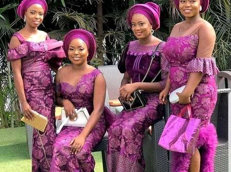Trending beautiful bridal train aso-ebi styles for weddings