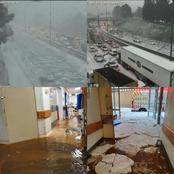In shock!! Storm hit Alberton Hospital attacked by floods in Hailstorm Gauteng province!