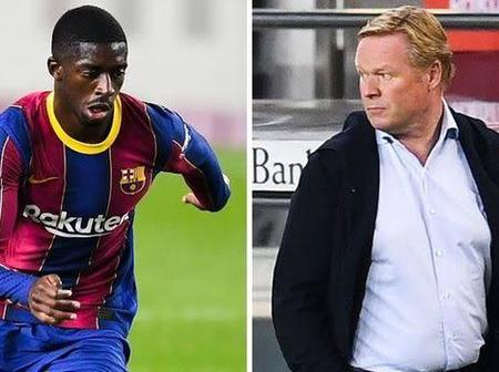 Barcelona manger Koeman explains why Man Utd linked Dembele was left on the bench against Celta Vigo