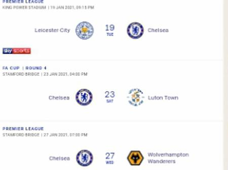Check out Chelsea's remaining games for January.