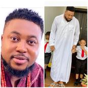 Actor Nosa Rex Shows Off His 2 Kids As He Goes For School Run (Photos)