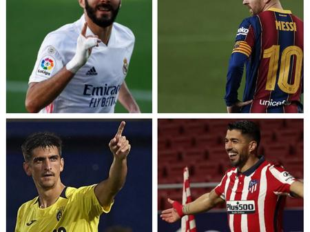 After Moreno Grabbed Hat-Trick And Benzema Scored, See How La Liga Top Scorers' Race Thickens
