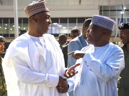 Bukola Saraki, Atiku Abubaker Spotted At An Event