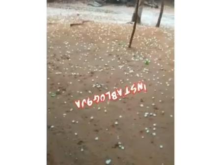 Video Of Hailstones Falling In Edo State, Irrua LGA, Sparks Reactions On Social Media