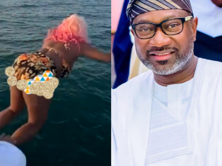 Hours After DJ Cuppy Jumped Into a Sea, See What She told her Dad That Got People Talking