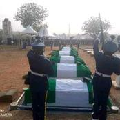 See Photos as the Nigerian Military Officers that died in the Plane Crash are laid to rest.