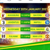 Wenesday sure tips to bet on and harvest handsomely for the following teams