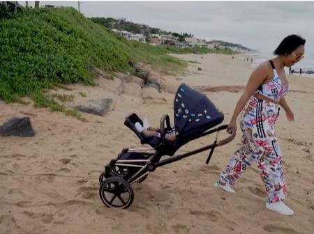 Msanzi reacts after Minnie Dlamini posting taking her son to the ocean to get his blessing