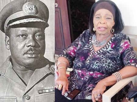 54 Years After Aguiyi Ironsi Died, See Photos Of His 96-Years-Old Wife And His Son