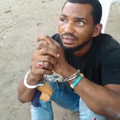 The face of the thief that was caught after he went to return victim's Simcard shown.(video)