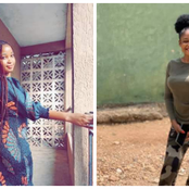Reactions as lady poses in photos