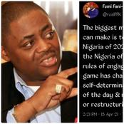 FFK Tags Ethnic Agitators As Dangerous, Says The Nigeria Of Today No Longer Same With That Of 2015