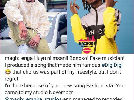 Huyu ni musician Bonokom Magix Enga Blasts Arrow Boy