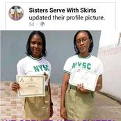 We served with skirts, sisters you too can do it