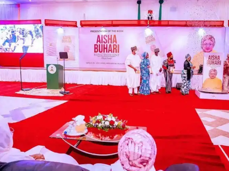 As Aisha Buhari launches her new book, see the huge amount of money Dangote and Tinubu donated.