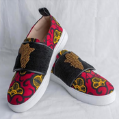 African swag or what? Check out these beautiful Ankara canvas shoe designs