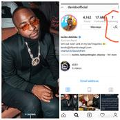 3 Months After Unfollowing Everyone On His Instagram Page, See The 7 People Davido Finally Follows