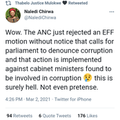 The ANC has rejected the EFF motion