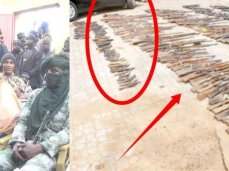See The AK47 Rifles That Top Bandit Commander Submitted To Zamfara Government