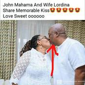 Ghanaians Reacted When Mahama And Wife Were Spotted Kissing In A Picture.