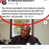 Dr. Bawumia - I Will Provide John Mahama Some Answers And Only Ask That He Takes His Time To Read