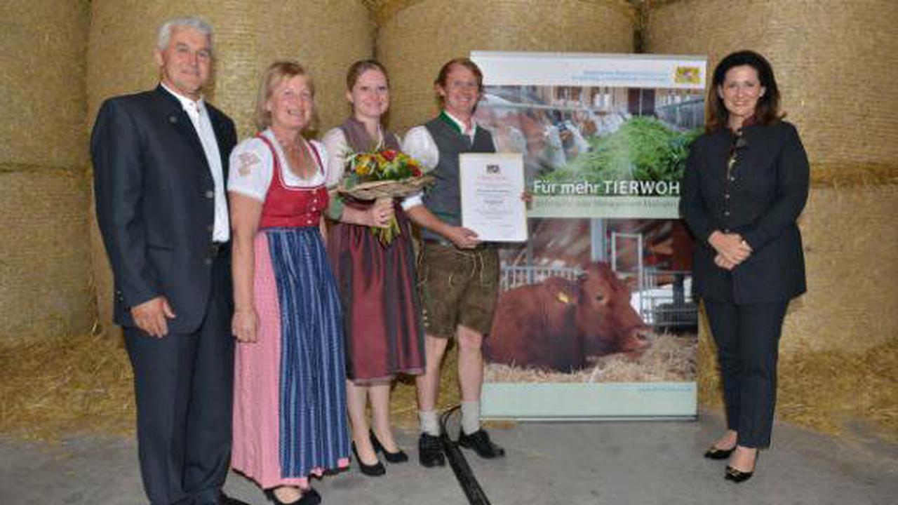 Schöffelding: Bayerischer Tierwohlpreis geht nach Schöffelding