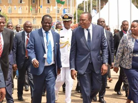 Uhuru & Raila Back Together, Is Someone Being Fooled On April Fool's Day?
