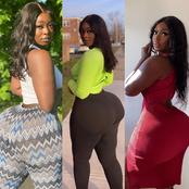 Photos: UK based Ghanaian born out thrones Moesha Boudoung with her curves and huge backside