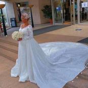Coco Emilia dans une robe de mariage sublime, elle fait rêver toutes les demoiselles!