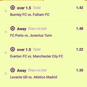 Must Win Six Multi-Bet Matches With GG & Correct Score (CS) To Guarantee You Huge Returns Tonight