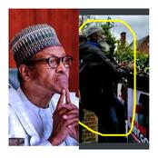 A man spotted climbing into Buhari's house in London while Protesting