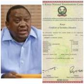 Truth About President's Uhuru Kenyatta's KCSE Certificate That Is Found on the Internet