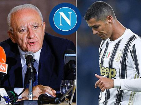 See what Governor of Campania De Luca said after Christiano Ronaldo tested positive to Corona Virus
