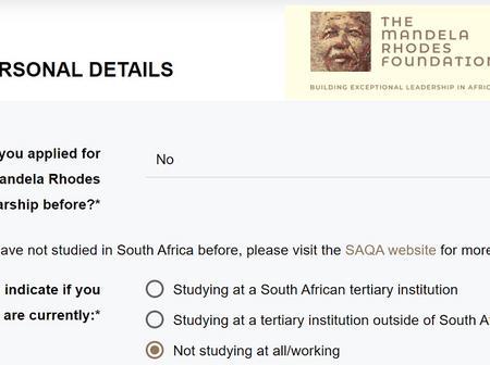 Mandela Rhodes Scholarships 2021/2022 - Apply