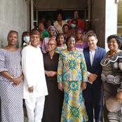 Marie Odette Lorougnon (FPI) et Kandia Camara (RHDP) ensemble sur un même cliché pour la paix !