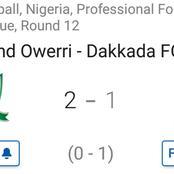 Heartland Owerri won 2-1 against Dakkada in latest fixture by scoring late in injury time