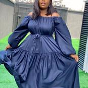 Check Out These Stunning Plain Fabric Gown Styles For Sophisticated Ladies
