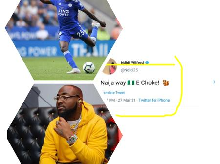 Reactions after a Leicester City player used Davido's slang on Twitter