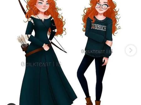 How Disney princesses would look like dressed as teenagers