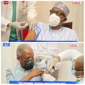 Breaking: President Buhari And Vice President Yemi Osibanjo Receives COVID - 19 Vaccine (Video)