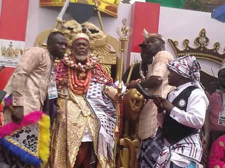 Photos of the top King that was coronated in Rivers State that made history